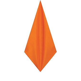 Dobell Mens Orange Pocket Square Handkerchief Dupion Satin-Feel Fabric