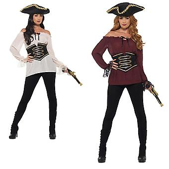 Deluxe Dames piraat shirt carnaval piraat hemd piraat