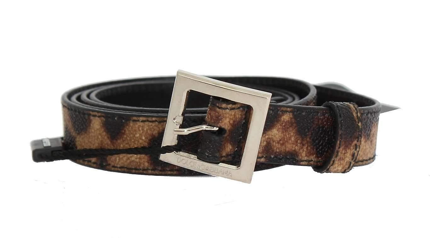 marron Leopard argent Buckle Belt -- BEL1892336