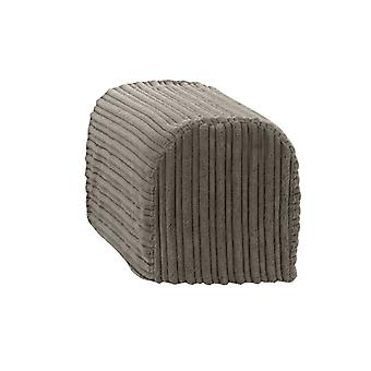 Changing Sofas® Large Size Charcoal Jumbo Cord Pair of Arm Caps for Sofa Armchair