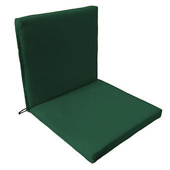 Gardenista® almohadilla de asiento de dos partes resistente al agua verde, paquete de 6