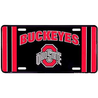 Ohio State Buckeyes NCAA Team Stripe License Plate