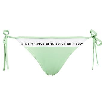 Calvin Klein Women Swimwear CK LOGO Side Tie Bottom, Spring Bouquet, Small