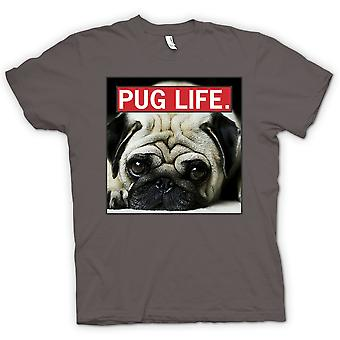 Mens T-shirt - Pug Life - Super Cool And Living The Pug Life