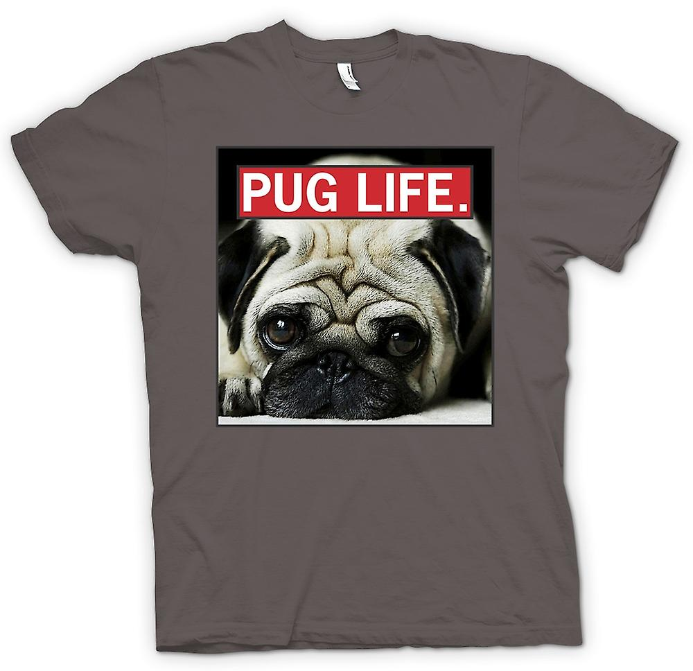 Womens T-shirt - Pug Life - Super Cool And Living The Pug Life