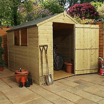 Mercia 8x6ft Pressure Treated Timber Shiplap Apex Garden Shed with Windows
