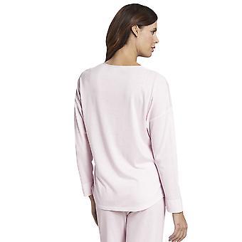 Rosch 1193718-14706 Damen reine weiße Minimal Print Baumwolle Pyjama Top