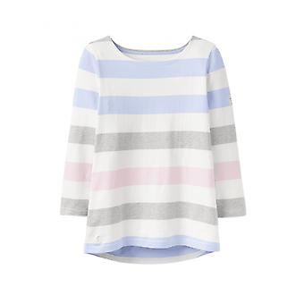 Joules haven Womens Jersey top-licht multi blauwe streep
