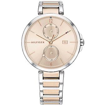 Tommy Hilfiger   Womens Two Tone Stainless Steel Bracelet   Blush Dial   1782127 Watch