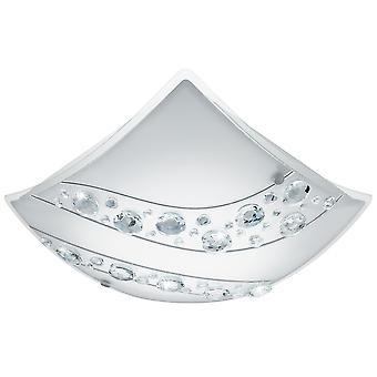 EGLO-Nerini LED satin glas & kristalltak ljus EG95578