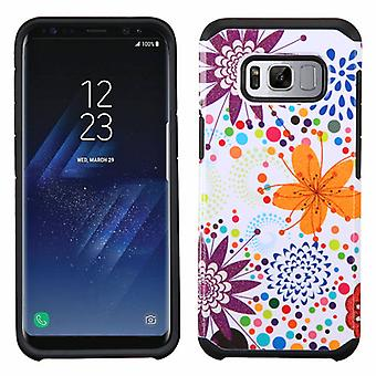 ASMYNA Flower Bud/Bubble/Black Advanced Armor Protector Cover for Galaxy S8 Plus