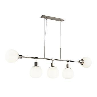 Maytoni Lighting Erich Nickel Pendant Lamp 5 X 40W