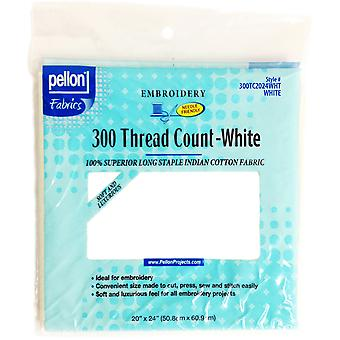 300 Thread Count Cotton Fabric For Embroidery-White 20