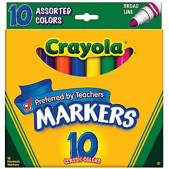 Crayola Broad Line Markers Assorted Colors 10 Pkg 58 7725