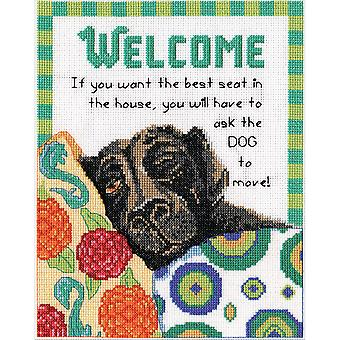 Best Seat Welcome Counted Cross Stitch Kit-8