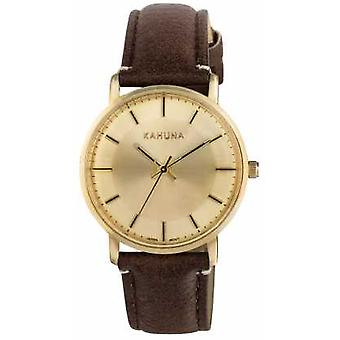 Kahuna Womens Brown Strap Champagne Dial KLS-0326L Watch