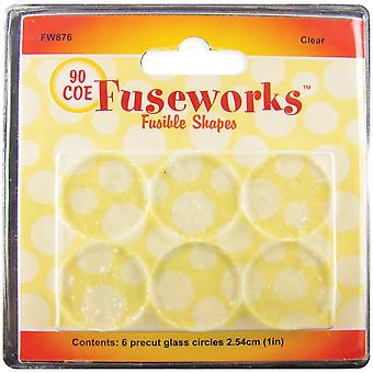Fuseworks Fusible Glass Shapes Round 1