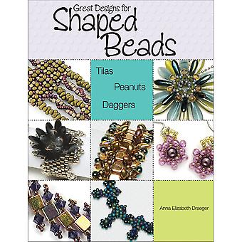 Kalmbach Publishing Books-Great Designs For Shaped Beads KBP-64957