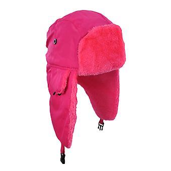 明亮的霓虹灯人造毛皮冬季骑兵帽帽