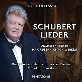 Schubert / Elsner / Rundfunk-Sinfonieorchester - Lieder de Schubert - orquestada por importación de los E.e.u.u. de Reger y Webern [SACD]