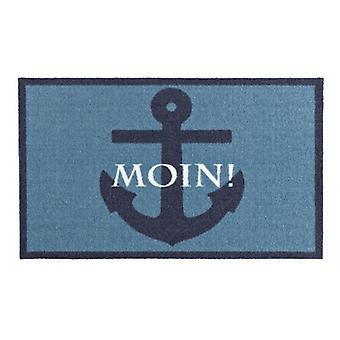 Doormat dirt trapping pad Moin! Blue 50 x 70 cm