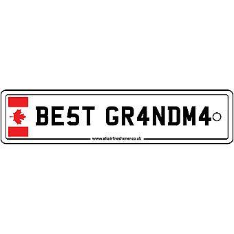 Canada - Best Grandma License Plate Car Air Freshener