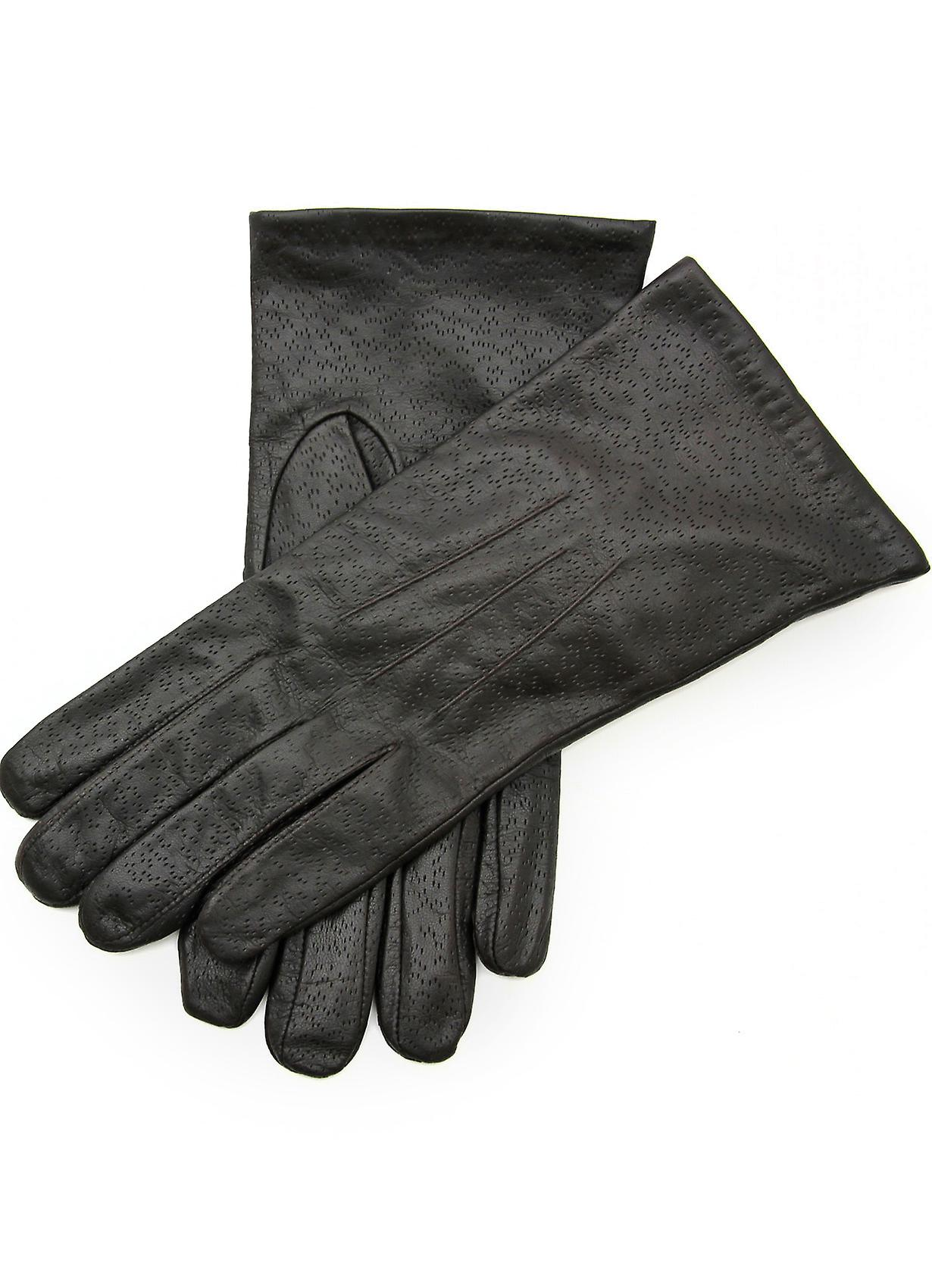 Mia V Classic Leather Gloves in Brown
