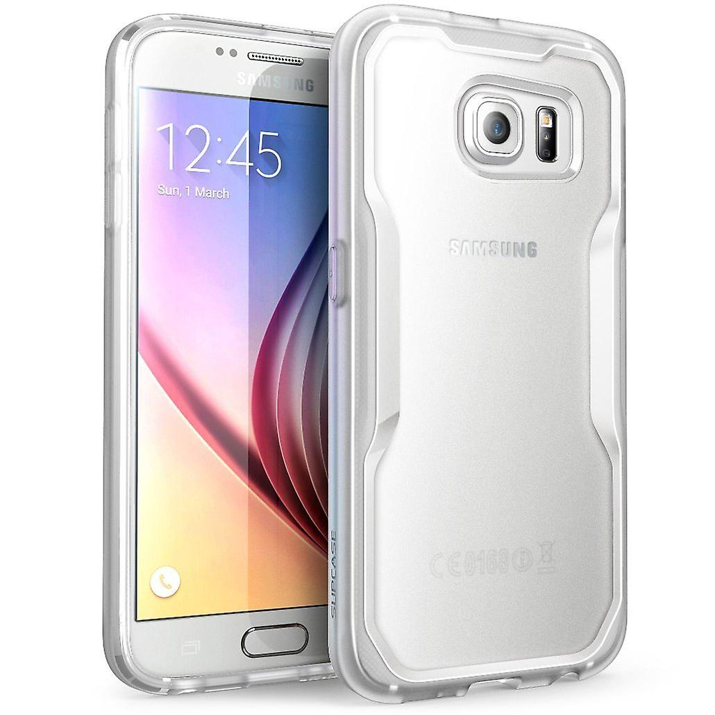 Galaxy S6 Case, SUPCASE Unicorn Beetle Series Premium Hybrid Protective Clear Case for Samsung Galaxy S6-Frost Clear / C
