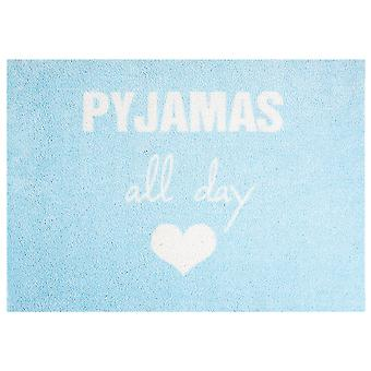 Washable mat rug Pajamas all day mint blue 50 x 70 cm