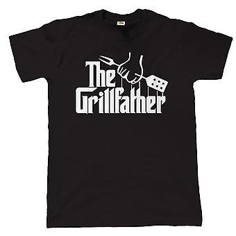 De Grillfather, de Mens grappige BBQ-T Shirt