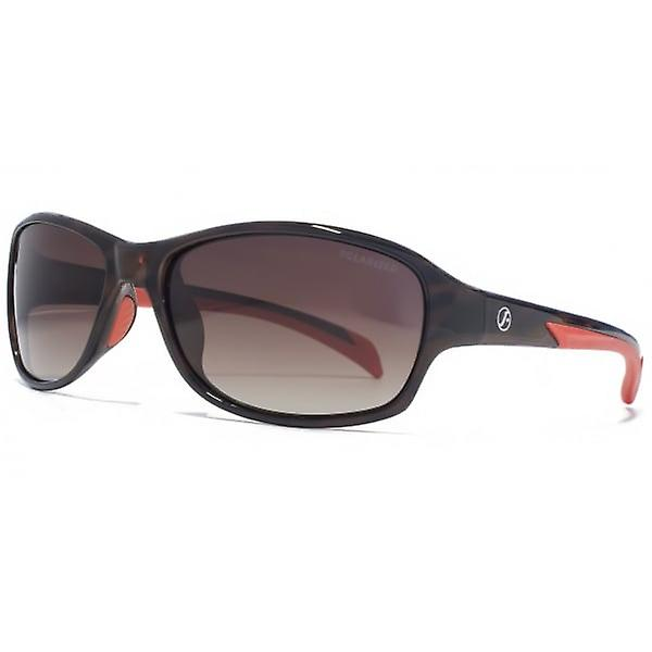 Freedom Polarised Soft Rectangle Sunglasses In Brown