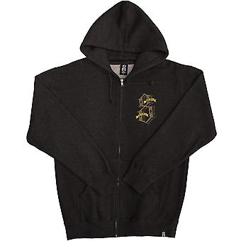 Rebel8 Dukes of Destruction Zip Up Hoodie Heather Charcoal