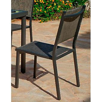 Hevea Chair Aluminum / Textilen Horizon-2 Anthracite