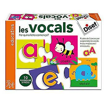 Diset The vowels (Toys , Boardgames , Puzzles)
