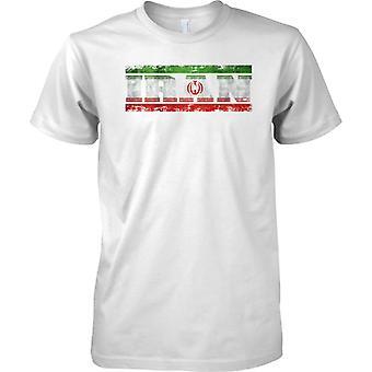 L'Iran Grunge paese nome effetto bandiera - Kids T Shirt