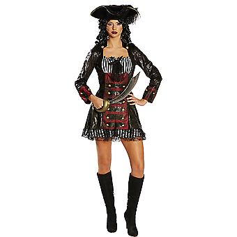 Sea robber bride women's costume pirate's bride dress pirate fat Thursday Carnival