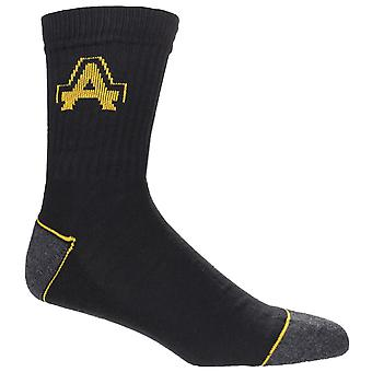 Amblers Mens Contrast Ribbed Workwear Socks (Pack Of 3)