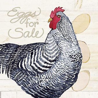 Жизнь на ферме цыпленка я печать плаката, Кэтлин Парр Маккенна