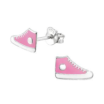 Trainers - 925 Sterling Silver Colourful Ear Studs