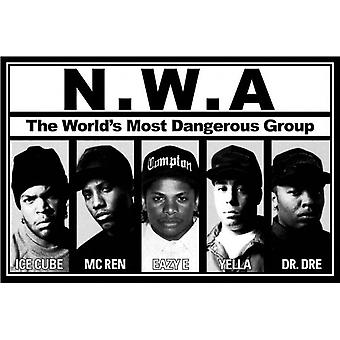 NWA Worlds Most Dangerous Group Poster Poster Print