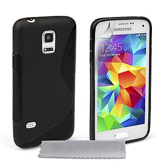 Caseflex Samsung Galaxy S5 Mini silikon Gel S-Line Case - svart