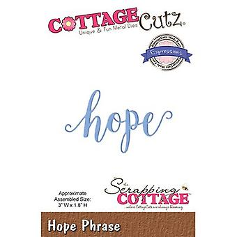 CottageCutz Expressions Plus Die-Hope 3