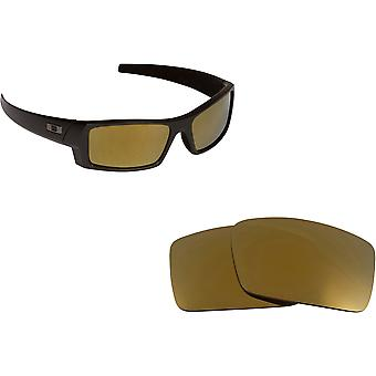 Best SEEK Replacement Lenses Oakley Sunglasses GASCAN S Small Black Gold Mirror