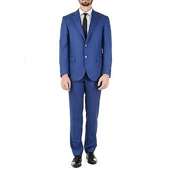 Corneliani Mens Suit Long Sleeves Blue Super 110\'s