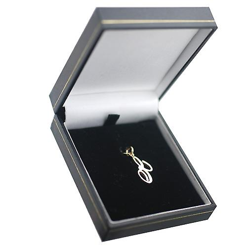 9ct Gold 21x12mm plain Initial E Pendant