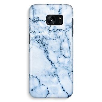 Samsung S7 Edge Full Print Case - Blue marble