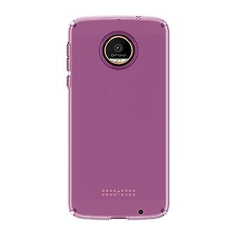Speck CandyShell Case for MOTO Z Droid - Beaming Orchid Purple/Clear