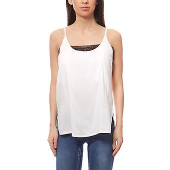 Shirt Blusen top double-layered with lace white Aniston