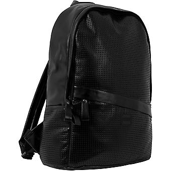 Urban classics - faux leather perforated backpack black