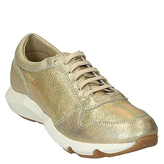 Women's gold glitter leather sneakers shoes handmade